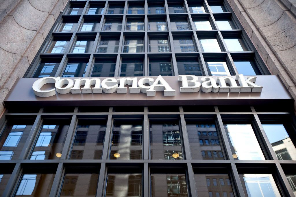 The Comerica Bank Tower in downtown Dallas. (Matt Nager/Bloomberg, File Photo)