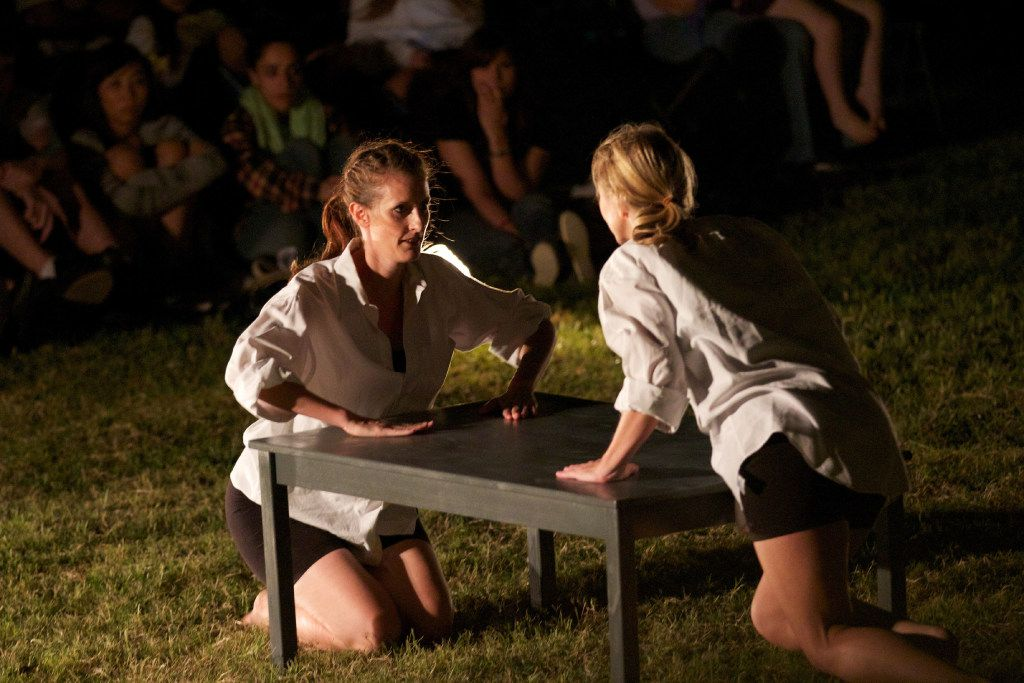 Elledanceworks company members Tracy Kennedy, left, and Shelley Padilla in A Shot in the Dark in 2011.