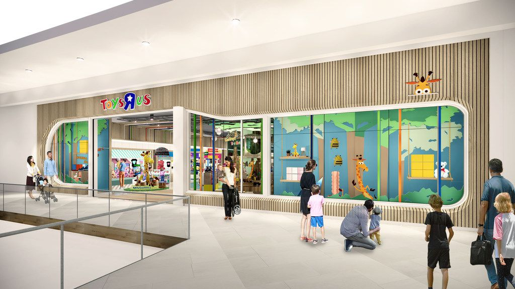 Toys R Us, which closed all of its stores following its 2017 bankruptcy, is making a comeback. The company is opening two new stores this November in Texas and in New Jersey. MUST CREDIT: Rendering courtesy of Toys R Us.