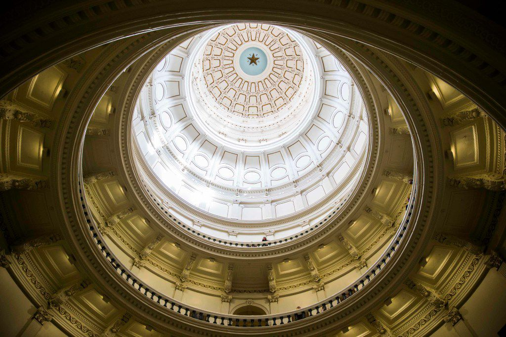 The rotunda of the Texas state capital during the first day of the 85th Texas Legislative Session on Jan. 10, 2017 .