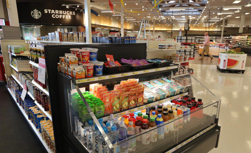 """The remodeled store features a """"grab and go"""" section of products at the Target store at Coit and Campbell in north Dallas, photographed on Tuesday, June13, 2017. (Louis DeLuca/The Dallas Morning News)"""