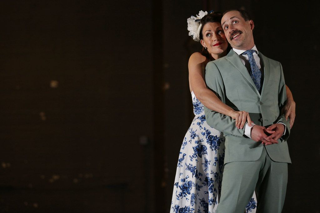 Lyric Stage favorites Catherine Carpenter Cox plays Adelaide and Andy Baldwin plays Nathan Detroit in 'Guys and Dolls,' the final show of the company's 25th season and the final show of its first season at its new home at the Majestic Theatre in Dallas. The show runs June 8-10.