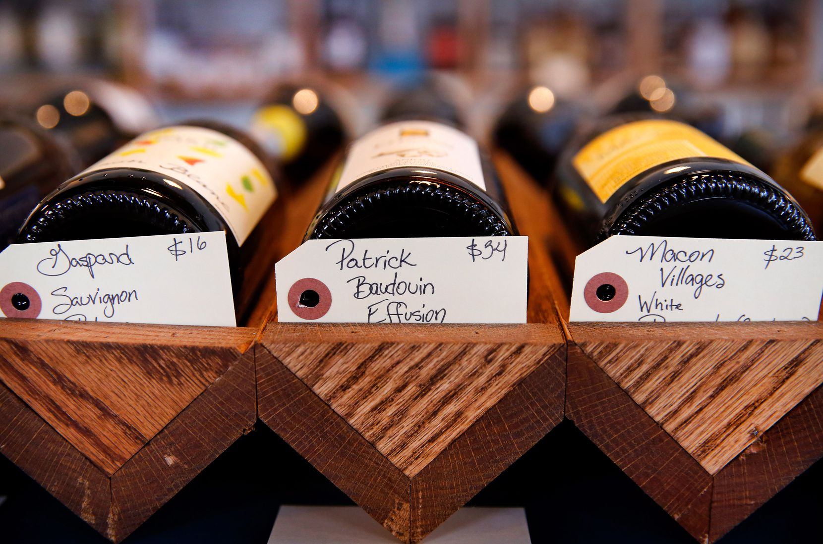 Natural wines for sale at Bar & Garden (Tom Fox/The Dallas Morning News)