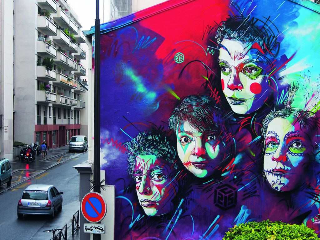 Paris_France_C215, 188 Rue Pelleport, Paris in Lonely Planet's 'Street Art' book. Artist: C215/Photo: C215 OLYMPUS DIGITAL CAMERA