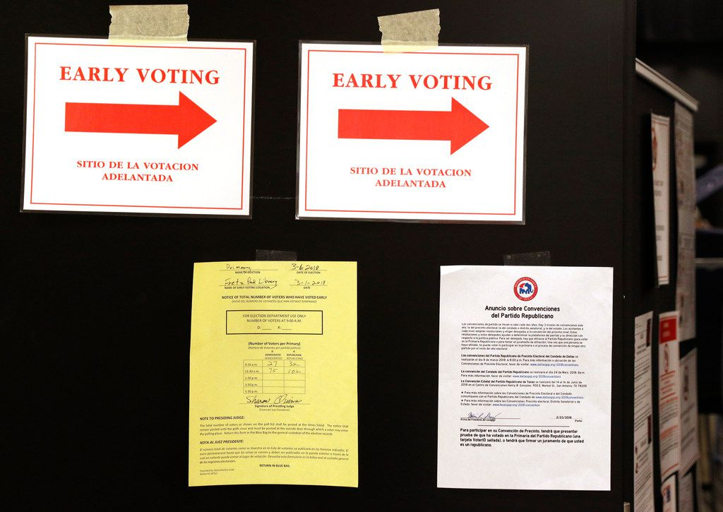As early voting headed into the final stretch Friday, turnout in the Democratic primary had nearly doubled since the last midterm election in 2014.