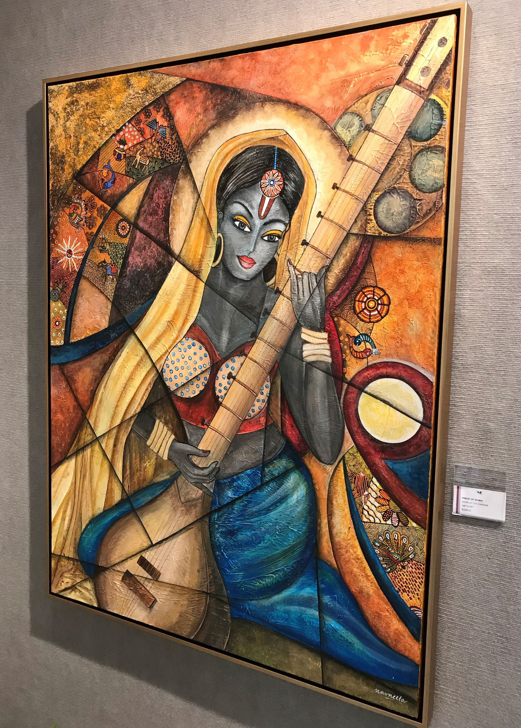 "A painting in Navneeta Khemka's exhibit, ""Sound of Music,"" at Jaycee Park Center for the Arts in Irving."