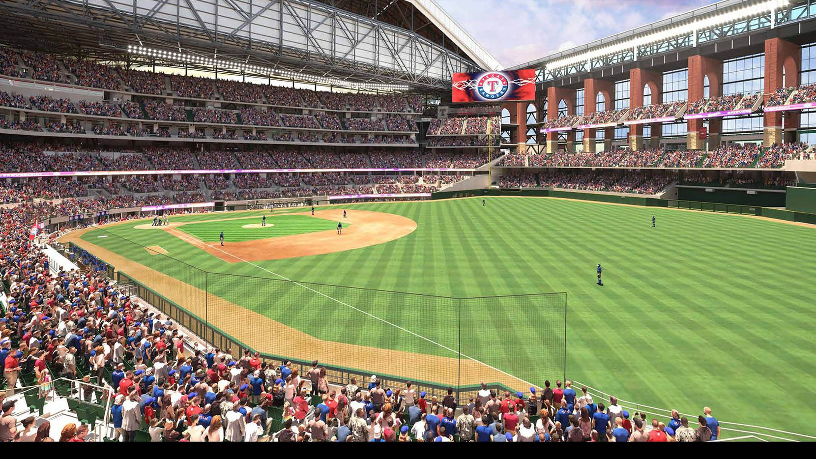 See Renderings Of The New Texas Rangers Stadium Set To Open