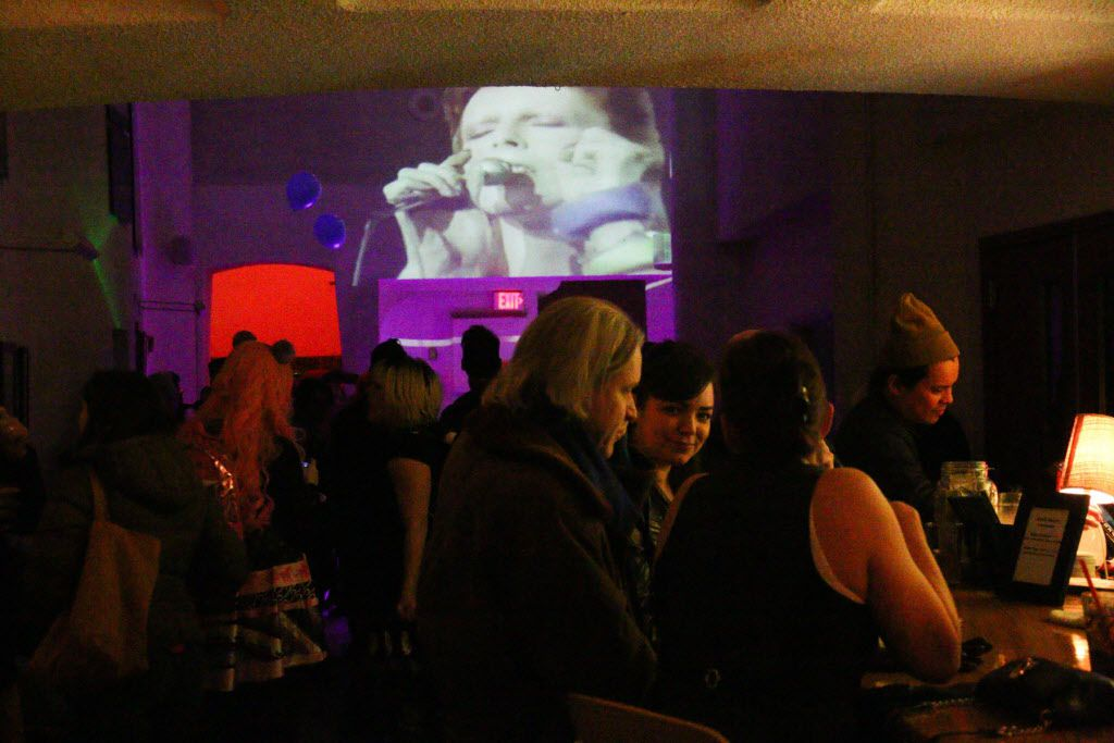 Texas Theater in Oak Cliff held a David Bowie danceparty in celebration of his birthday and in remberance of all of his music during his career which spanned over 6 decades.