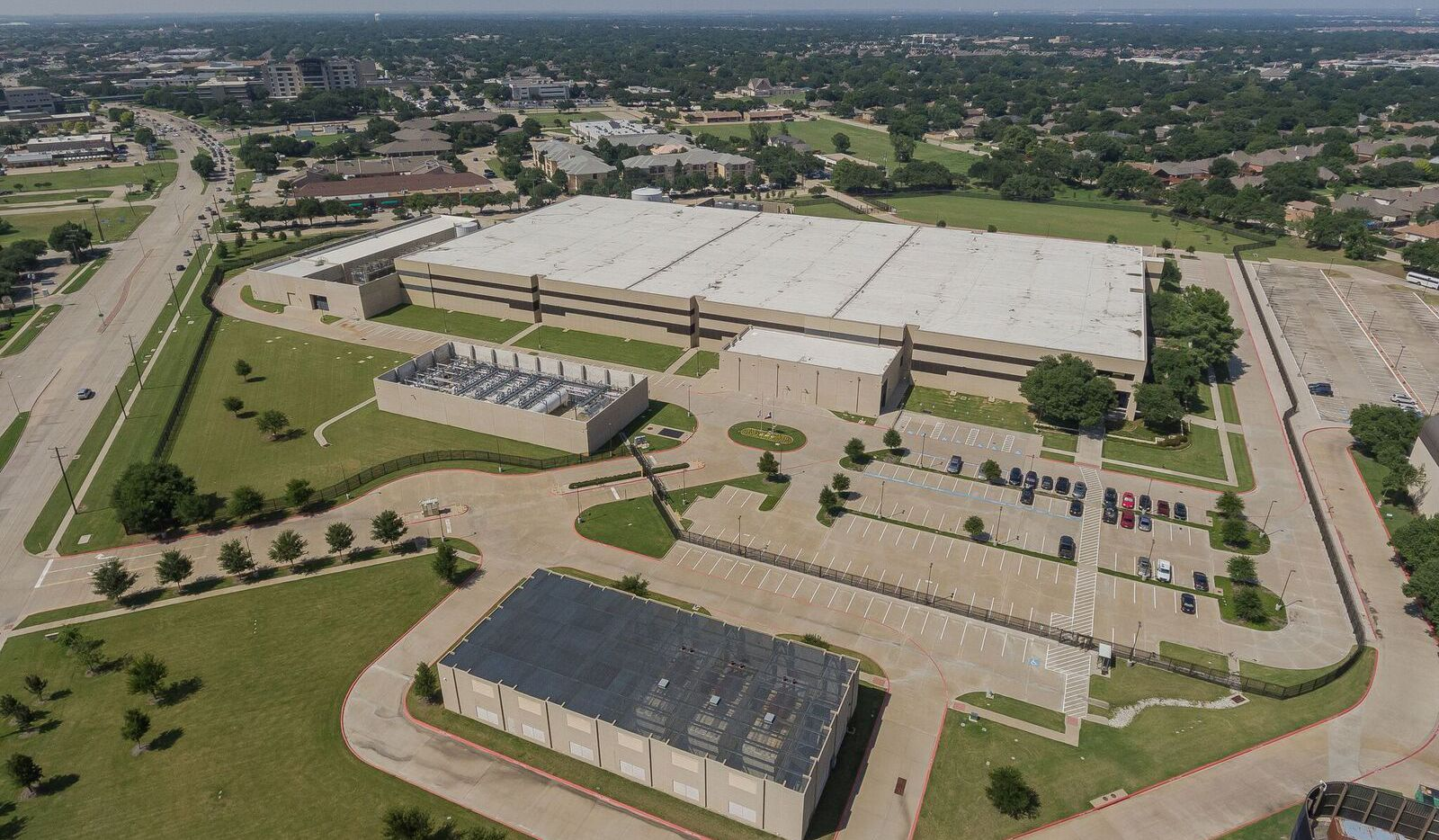 The 2-story data center on Coit Road in Plano is the largest of the three buildings sold.