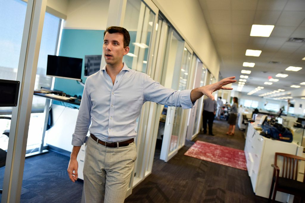 Alex Doubet, CEO of Door, conducts a tour of the company's offices in Dallas.