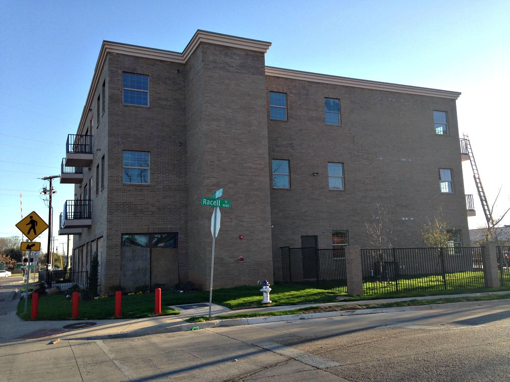 The Hatcher Gardens senior-living complex, which was supposed to open in 2015 and was partially funded with $200,000 in 2012 bond money. Former NBA player Kurt Thomas is among the investors in the buildings, where units start at $1,100 a month.
