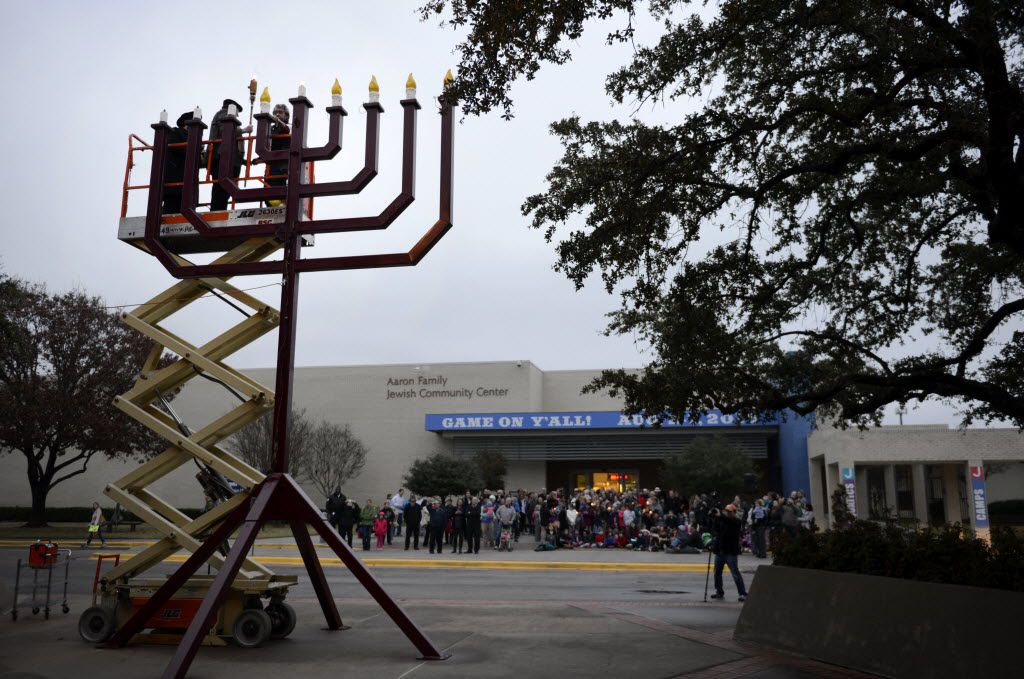 Dallas' Aaron Family Jewish Community Center was evacuated Wednesday morning. (Rose Baca/The Dallas Morning News)