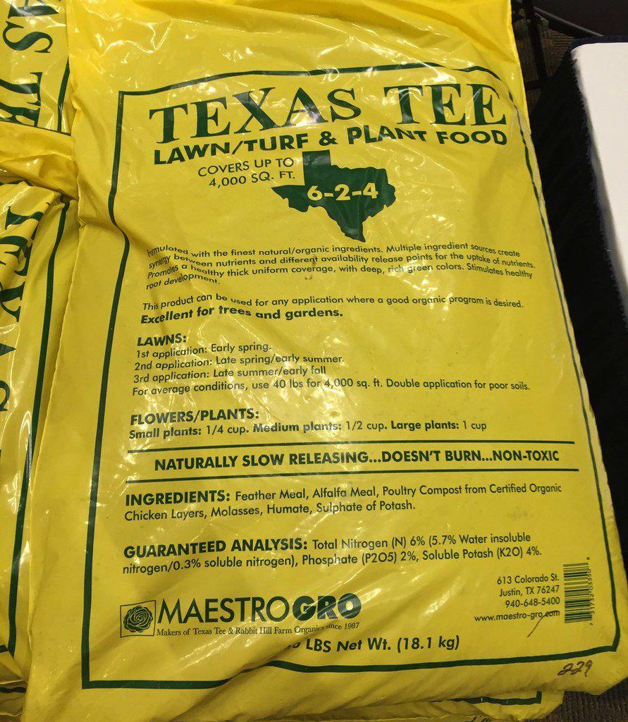 Texas Tee lawn, turf and plant food