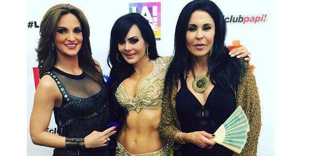 Mariana Seoane (izq.) y María Conchita Alonso (der.) participaron con Maribel Guardia (centro) en el evento LA Pride./AGENCIA REFORMA