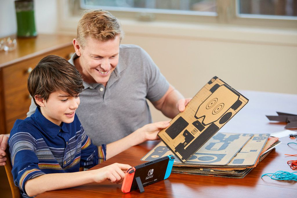 The Nintendo Labo Robot Kit lets you build a Toy-Con Robot suit to wear, control, and turn yourself into an interactive on-screen robot. Nintendo Switch system required (sold separately).