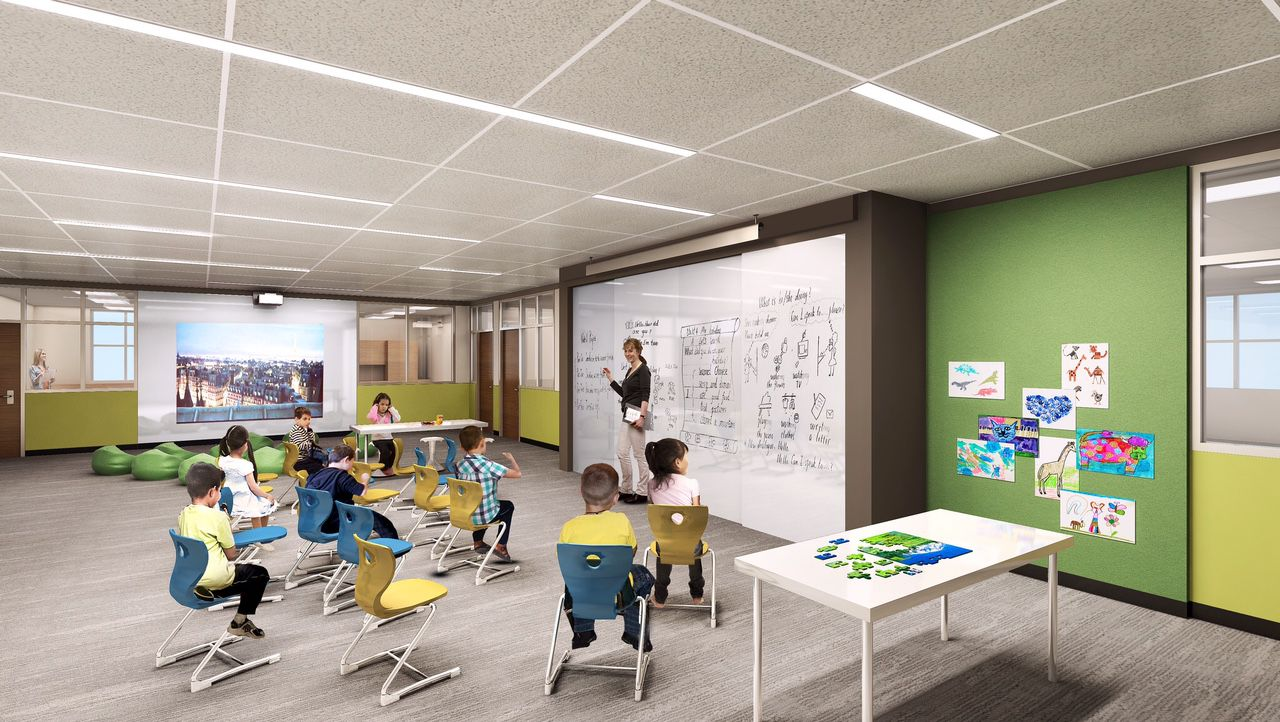 Images of HPISD's fifth elementary school set to open in August 2017.