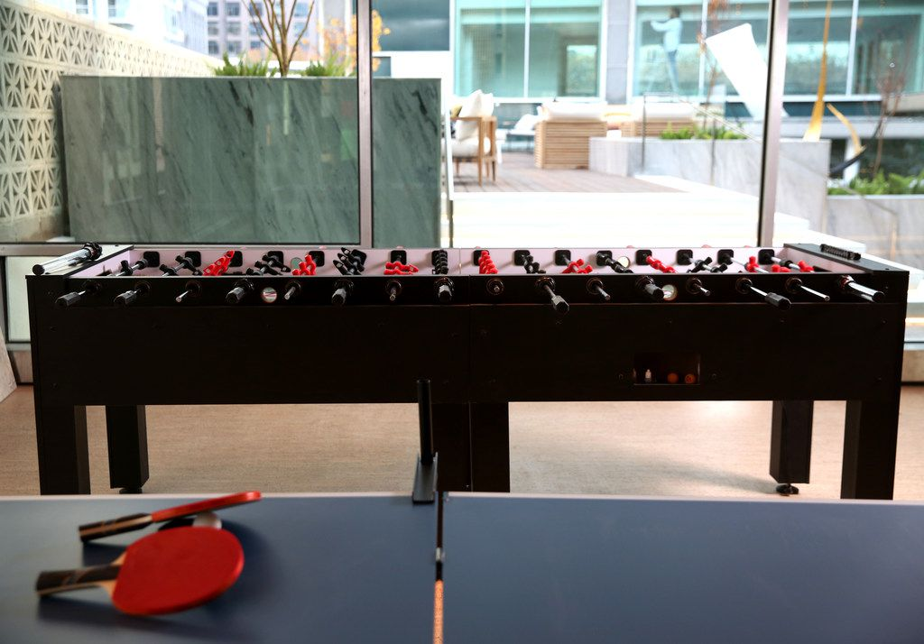 Scout has a couple of foosball tables, which can be played for free.