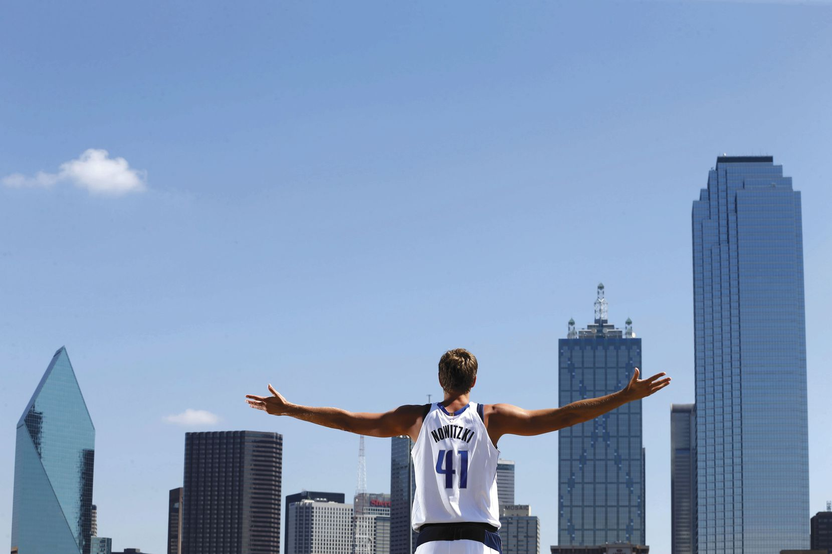 Dallas Mavericks forward Dirk Nowitzki may have been born in Germany, but Dallas is his town. He's started his 20th season here.