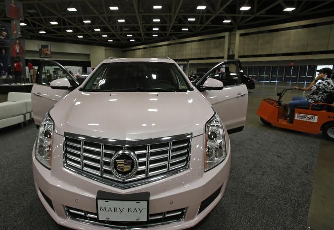The pink Cadillac is Mary Kay's reward for top sellers. It has been a company signature since Frank Kent Cadillac ordered Mary Kay Ash the '68 Sedan de Ville she wanted in the shade she wanted, even though the color was retired.
