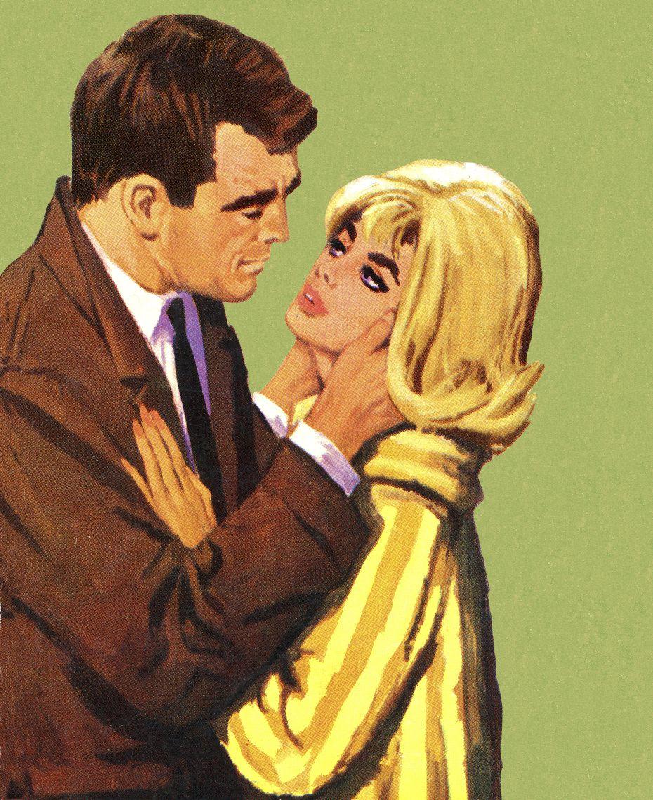 Man Embracing Blonde W