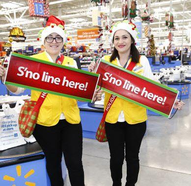 Walmart lanza un evento para las fiestas decembrinas en la ciudad de Nueva York. Foto AP