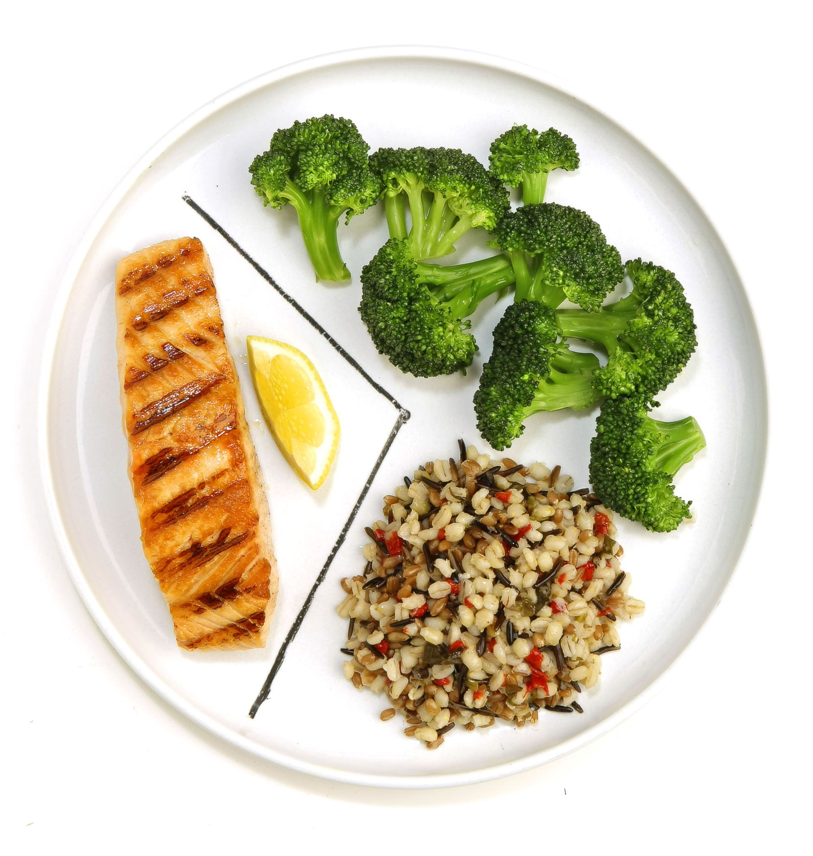 Salmon and other fatty fish are rich in omega-3 fatty acids that help decrease inflammation and may lower your risk of heart disease and certain cancers, including breast and prostate cancer. Broccoli and other dark green vegetables offer carotenoids, folate and vitamin C. Carotenoids may be powerful weapons against cancer. You can potentially reduce your risk of diabetes, heart disease, stroke and certain cancers by simply replacing refined grains with whole grains, which are higher in fiber and other disease-fighting nutrients.