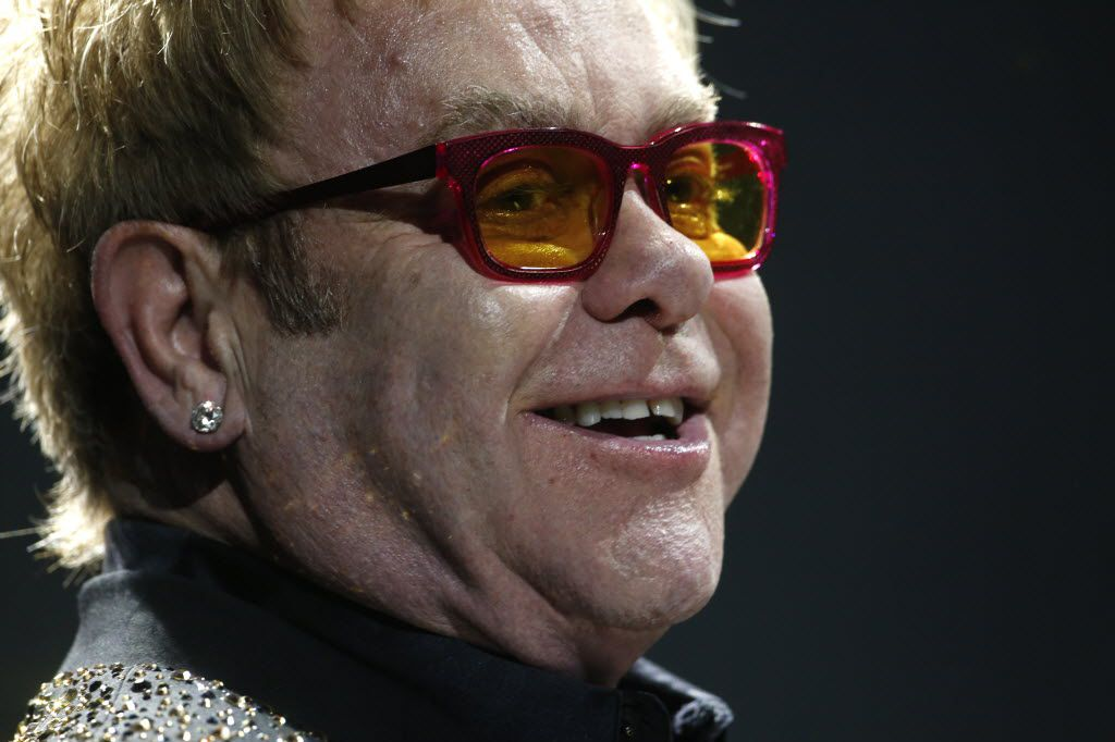 Elton John performs at American Airlines Center in Dallas March 13,  2014.