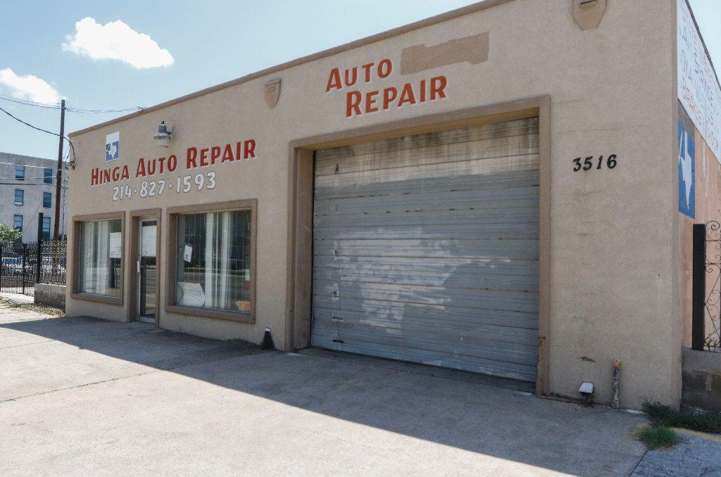 Hinga Mbogo's former auto repair shop on Ross Street in Dallas.
