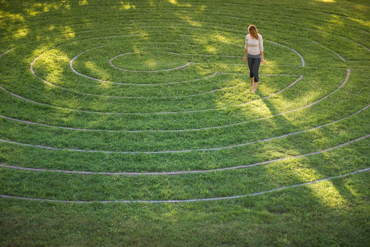 The Center has a labyrinth where people can walk from dawn to dusk.