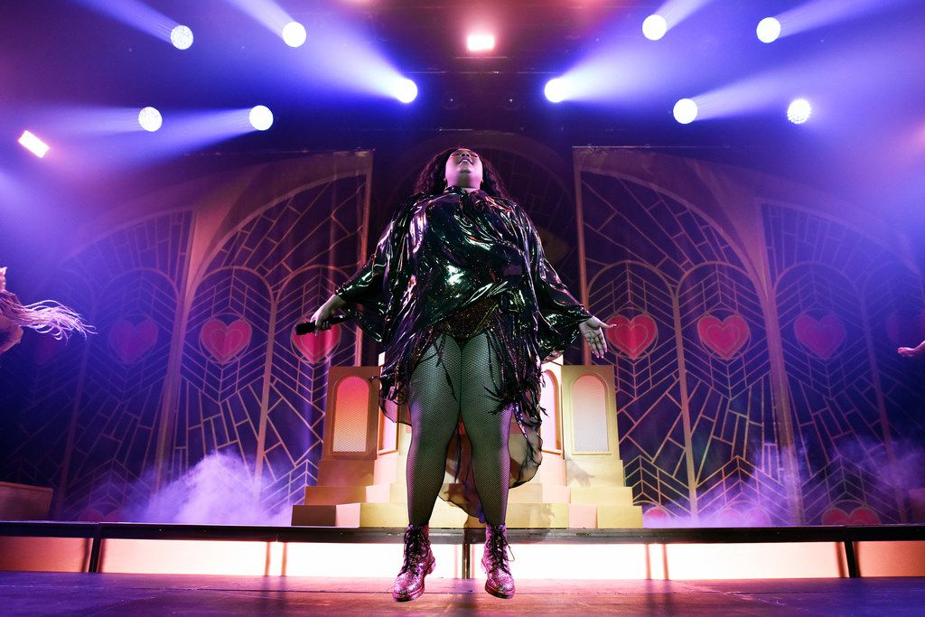 American singer and rapper Lizzo, performs at the Southside Ballroom in Dallas, Saturday evening Oct. 05, 2019.