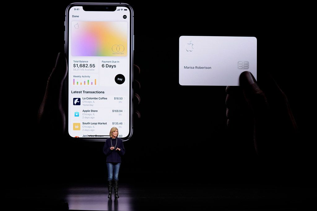 Jennifer Bailey, vice president of Apple Pay, spoke in March 2019 about the Apple Card at the Steve Jobs Theater during an event to announce new products in Cupertino, Calif.