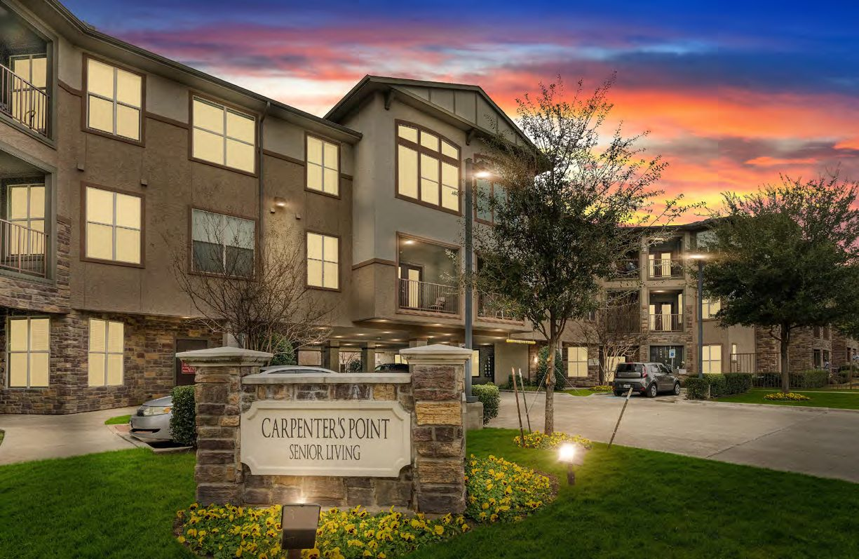 Carpenter's Point, a 150-unit senior housing community at 4645 Dolphin Road in Dallas, sold to two buyers.