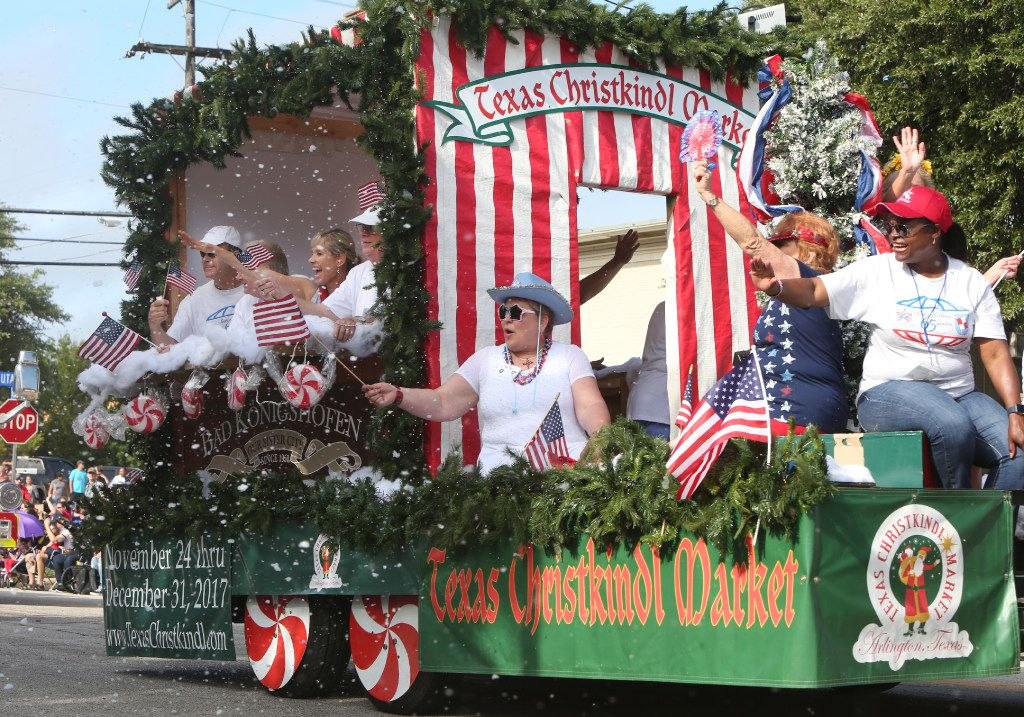 The Texas Christkindl Market was one of 132 entries in the 52nd annual 4th of July Parade in Arlington. (Steve Hamm/Special Contributor)