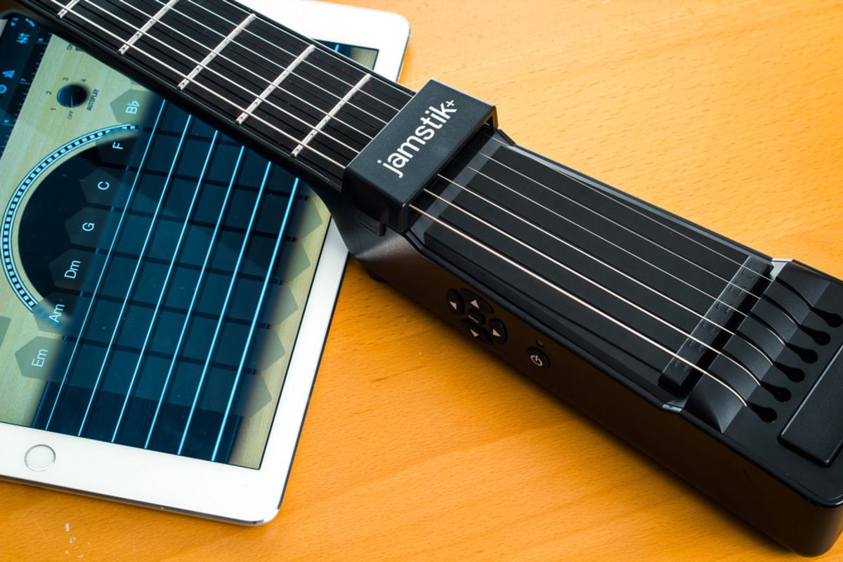 The Jamstik+ lets you learn to play guitar without strings.