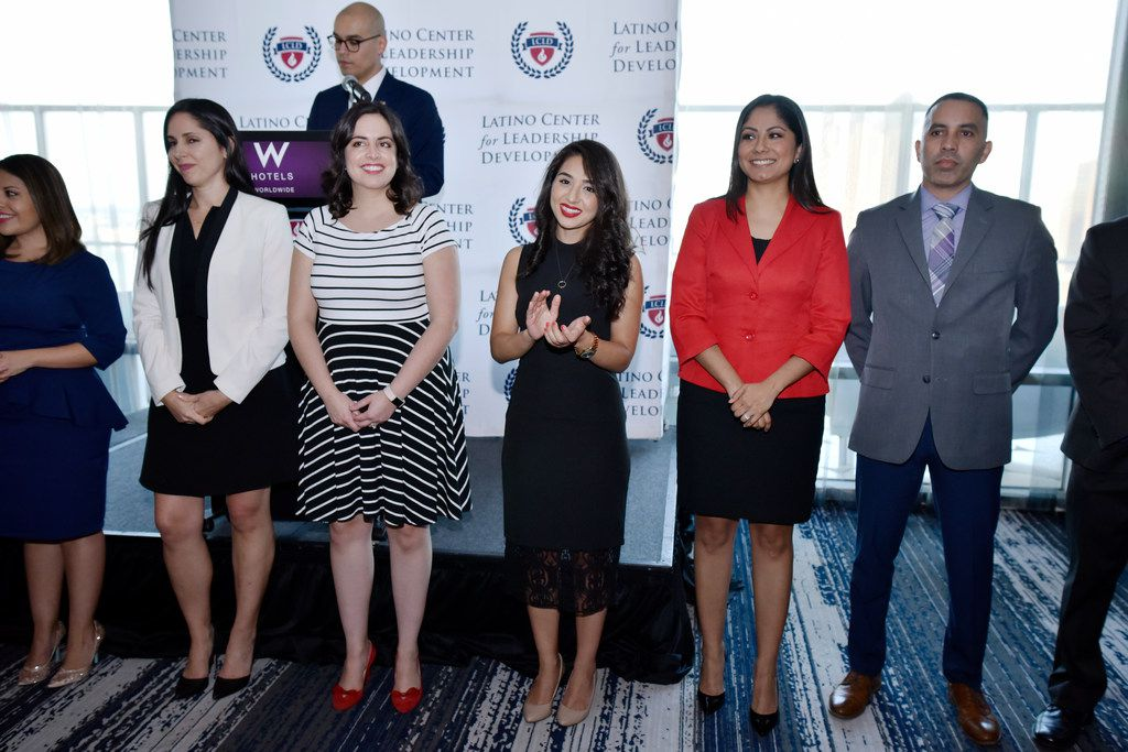 Leadership Academy Fellows from the Latino Center for Leadership Development were recognized during the leadership academy kickoff reception at the W Hotel in Dallas in August.