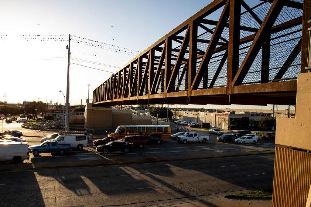 The Harry Hines pedestrian bridge in Dallas on Feb. 12, 2019.