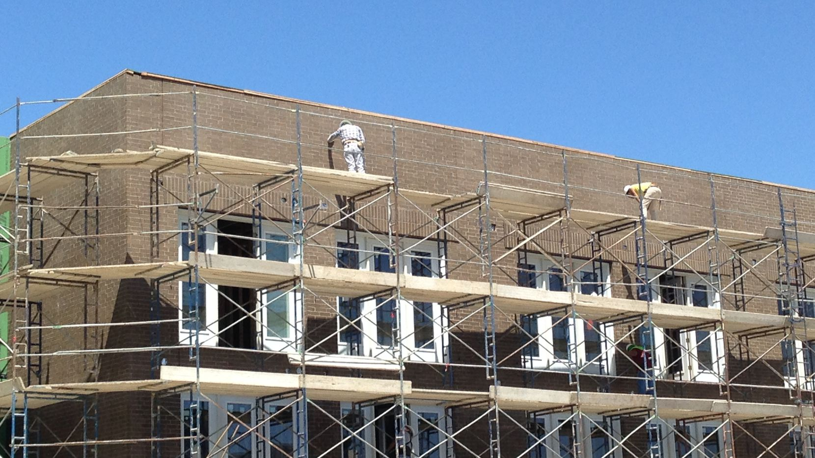Apartment construction is expected to level off during the next two years.