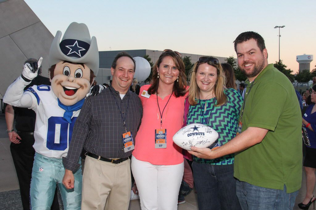 Groups of friends enjoyed Taste of the NFL on Sunday at AT&T Stadium.