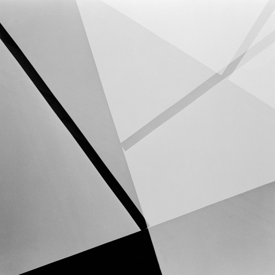 Brazilian abstract photographer Geraldo de Barros' work, Untitled. is from the series Fotoformas Sao Paulo..