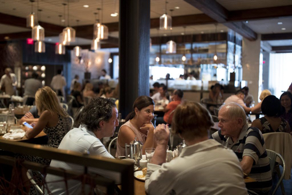 Patrons dine during lunch at CBD Provisions.