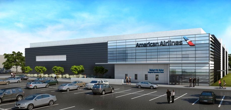 This is an illustration of American Airlines' new operations center in Fort Worth. The airline will offer media tours of the building on Tuesday. (American Airlines Group Inc.)