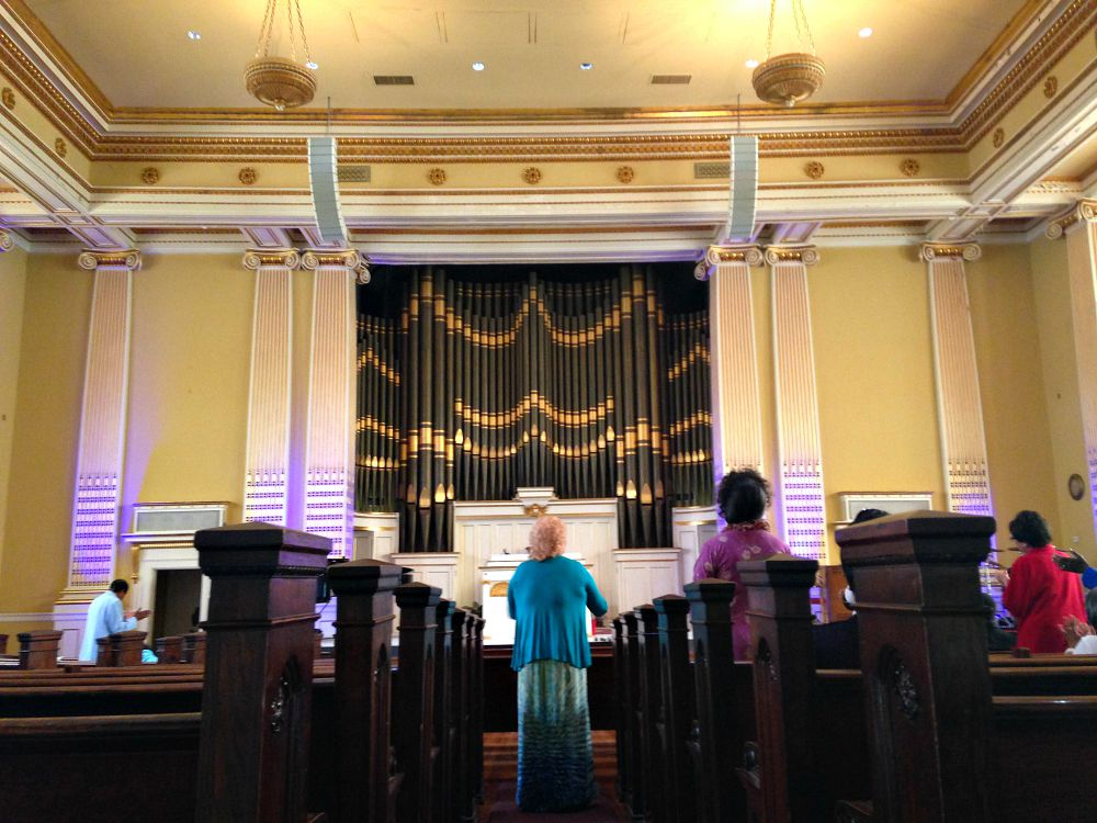 Sunday-morning church services were held on Father's Day at The Eagle's Nest Cathedral in downtown Dallas.