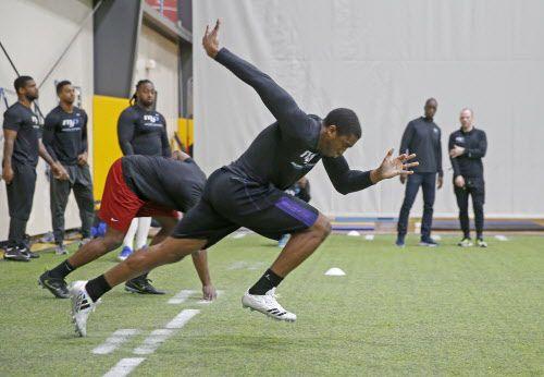 El NFL Combine se lleva a cabo del 27 de febrero al 5 de marzo en el Lucas Oil Stadium de Indianápolis. Foto DMN