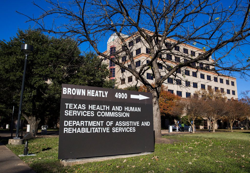 The Brown Heatly building in Austin houses the Texas Health and Human Services Commission.