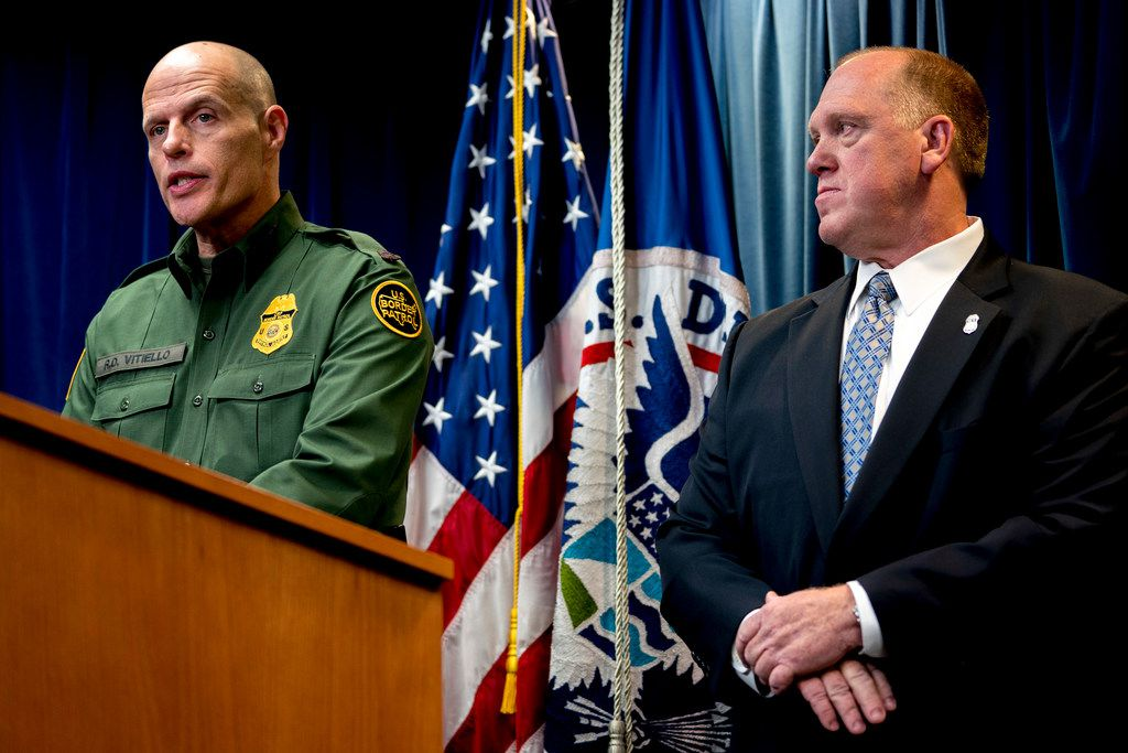 U.S. Customs and Border Protection's acting deputy commissioner, Ronald Vitiello, (left) spoke Tuesday at a news conference about immigration enforcement. With him was Thomas Homan, deputy director of Immigration and Customs Enforcement.