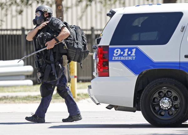 A Dallas SWAT team member left the scene of the standoff.
