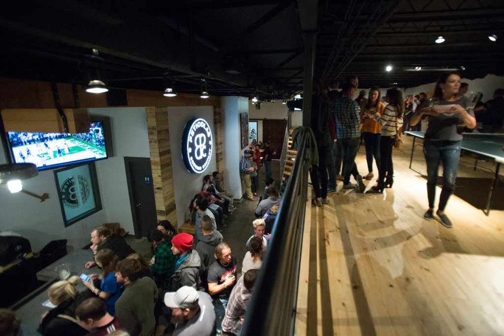 Peticolas Brewing Company is a multi-level taproom that opened the doors in Dallas, Texas, on Thursday, January 12, 2017.