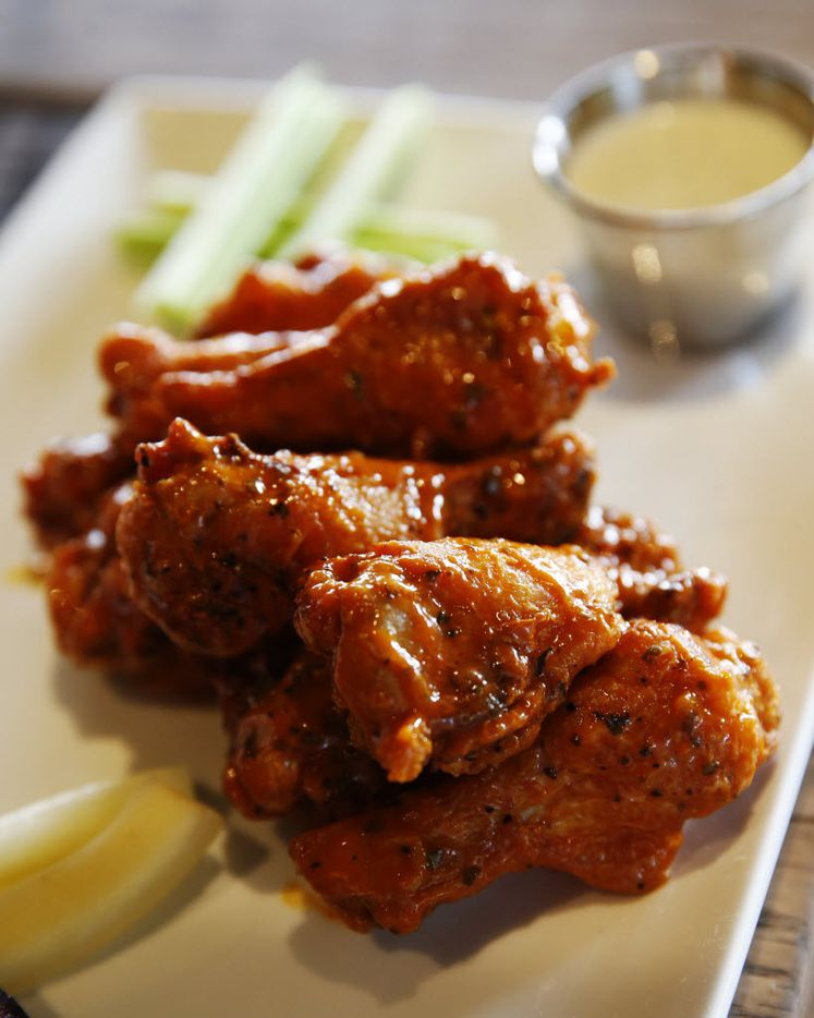 Chicken wings at the Happiest Hour in Dallas on Thursday, October 8, 2015.