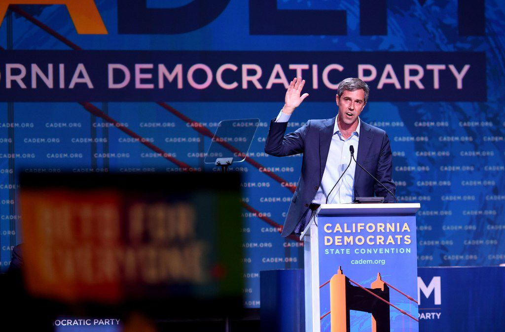 Democratic presidential candidate Beto O'Rourke spoke during the California Democratic Party State Convention  in San Francisco over the weekend.