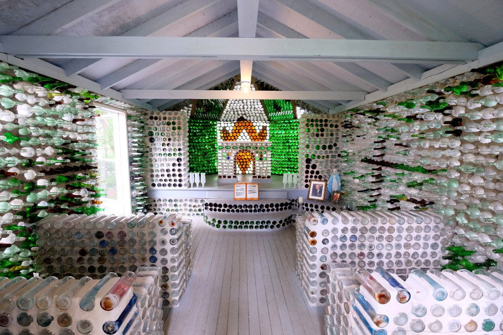 The Bottle Houses of Prince Edward Island in the village of Cap-Egmont are a fun and quirky Canadian tourist spot.
